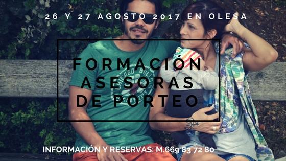 FORMACIÓN ASESORAS DE PORTEO @ OLESA DE MONTSERRAT