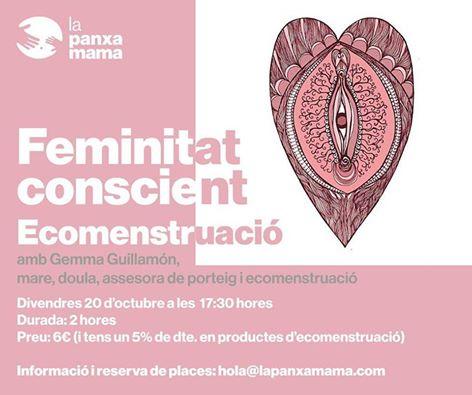 CONFERENCIA CICLO MENSTRUAL Y ECOMENSTRUACIÓN @ LA PANXAMAMA