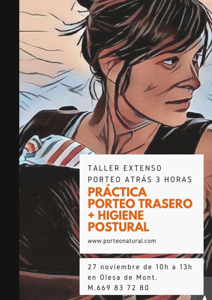 TALLER EXTENSO PORTEO ESPALDA