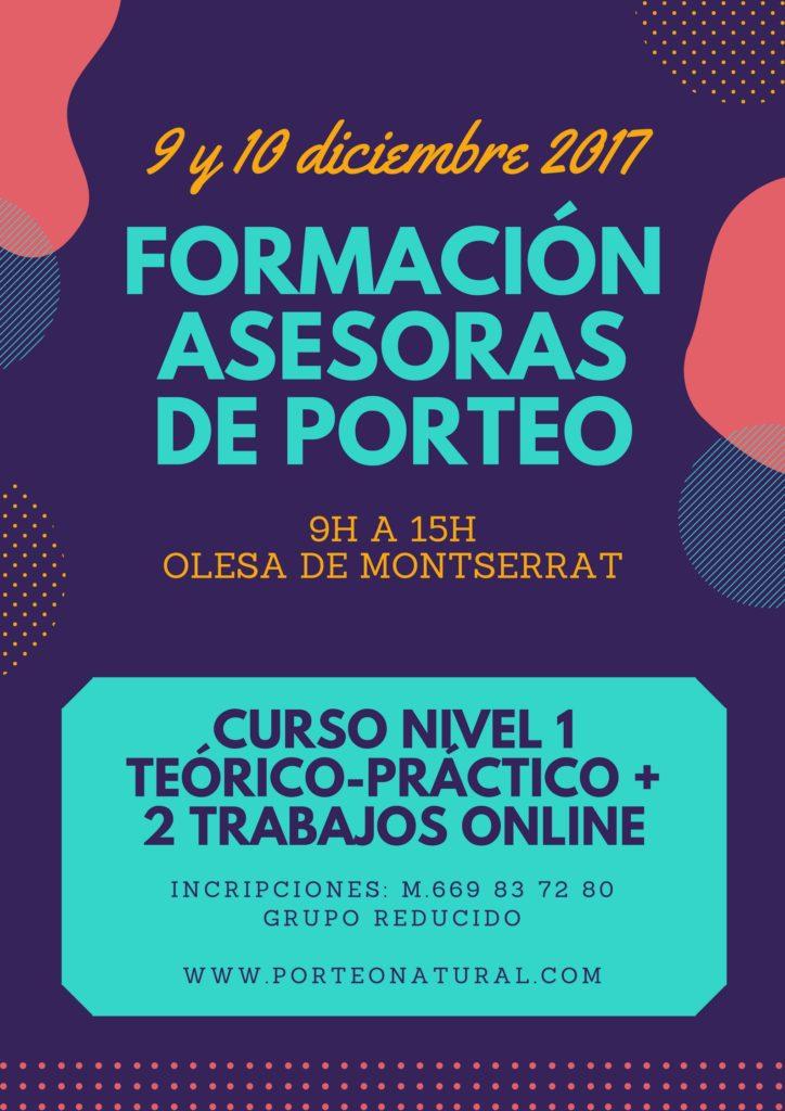 FORMACIÓN ASESORAS DE PORTEO NIVEL 1 @ OLESA DE MONTSERRAT