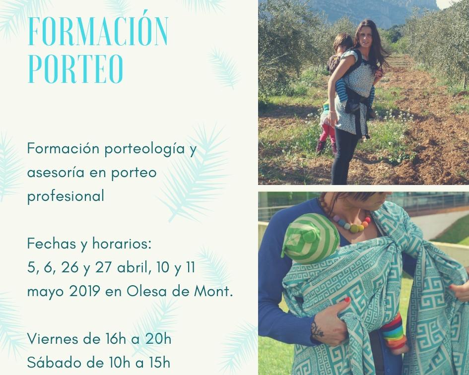 CURSO FORMACIÓN PORTEO 2/2019 @ OLESA DE MONTSERRAT