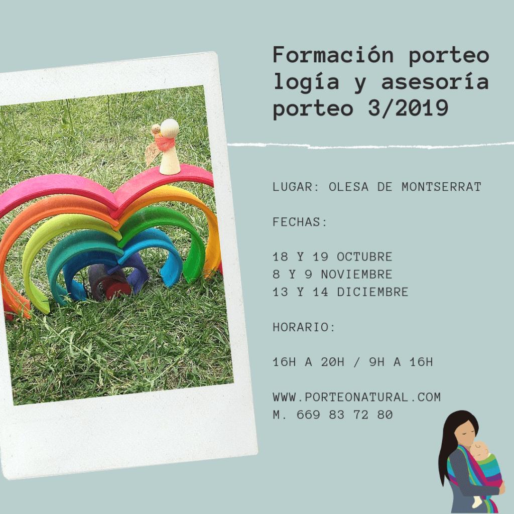 FORMACIÓN PRESENCIAL 3/2019 PORTEOLOGÍA